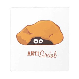 Anti Social Memo Note Pad