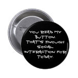 anti social pinback button