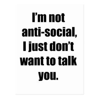 Anti-Social Postcard