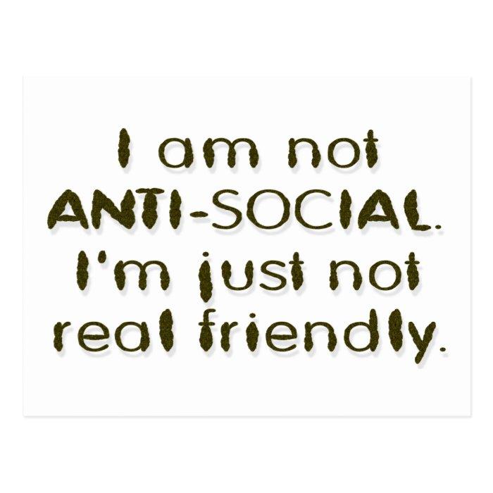 ANTI - SOCIAL POSTCARD