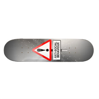 Anti-social warning. skateboard deck