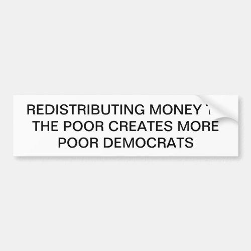 Anti_Socialism Anti_Democrat Bumper Sticker