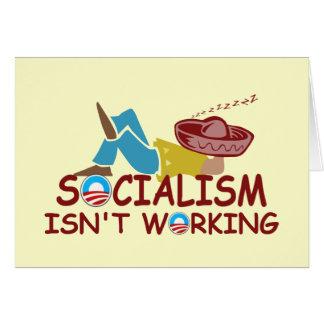 Anti socialism greeting card