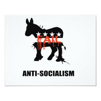 "Anti-Socialism 4.25"" X 5.5"" Invitation Card"