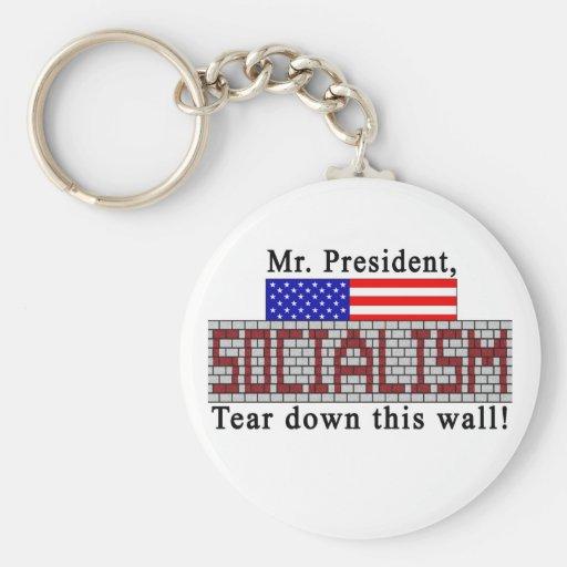Anti-Socialism keychain