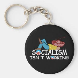 Anti socialism keychain