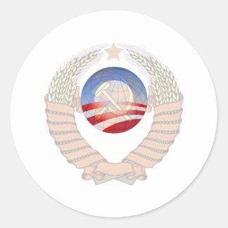 Anti Socialism Statement Krem & Obama Logos Stickers