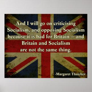 Anti-Socialismo de Margaret Thatcher Póster