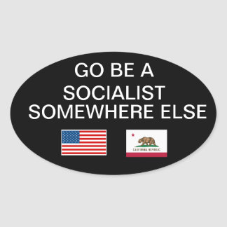 Anti-socialist sticker
