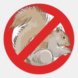 Round Sticker with Anti-Squirrel design