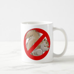 Classic White Mug with Anti-Squirrel design
