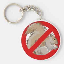 Basic Button Keychain with Anti-Squirrel design