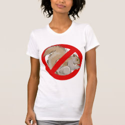 Women's American Apparel Fine Jersey Short Sleeve T-Shirt with Anti-Squirrel design