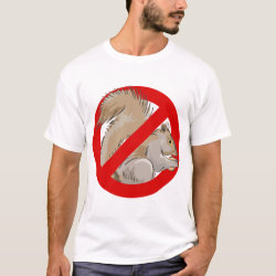 Men's Basic T-Shirt with Anti-Squirrel design