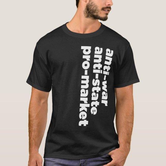 Anti-state, Anti-war, Pro-Market Shirt