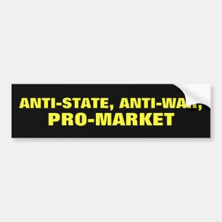 Anti-State Etiqueta De Parachoque