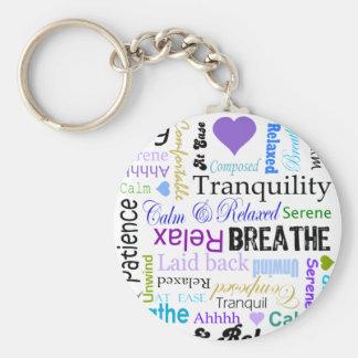 Anti-stress Relax & Breathe Typography keychain