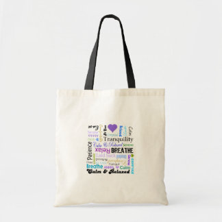 Anti-stress Relax Breathe Typography tote bag