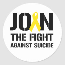 Anti-Suicide Classic Round Sticker