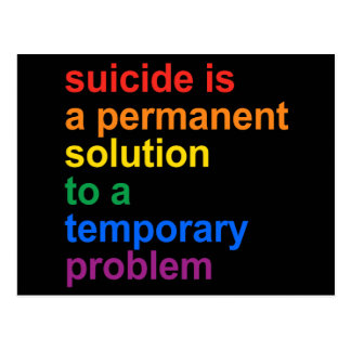 Anti-Suicide Postcard