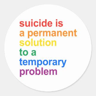 Anti-Suicidio Pegatinas Redondas