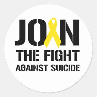 Anti-Suicidio Pegatina Redonda