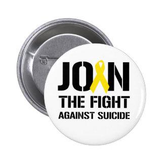 Anti-Suicidio Pin Redondo De 2 Pulgadas