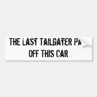Anti-tailgater Car Bumper Sticker
