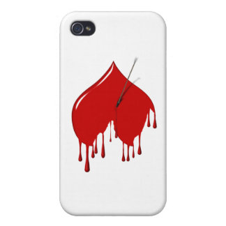Anti-Tarjeta del día de San Valentín - corazón al  iPhone 4/4S Carcasas