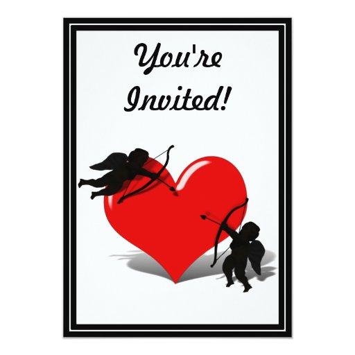 """Anti-Tarjeta del día de San Valentín - el duelo Invitación 5"""" X 7"""""""