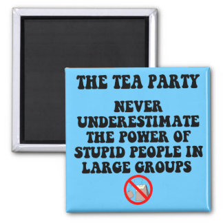 Anti tea party 2 inch square magnet
