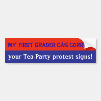 anti-Tea Party bumpersticker Car Bumper Sticker