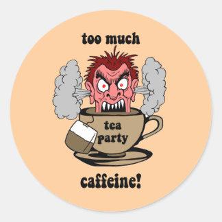 Anti tea party classic round sticker