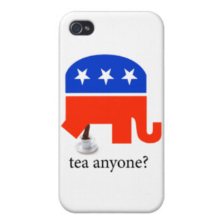 Anti Tea-Party Elephant Poop in Tea Cup iPhone 4/4S Cover