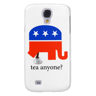 Anti Tea-Party Elephant Poop in Tea Cup Samsung S4 Case