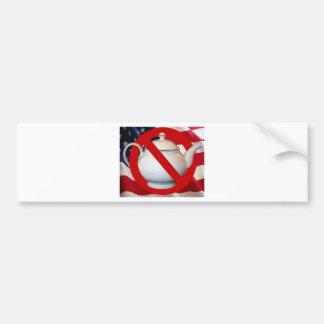 Anti Tea Party Flag Bumper Stickers