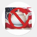 Anti Tea Party Flag Classic Round Sticker