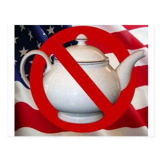 Anti Tea Party Flag Postcard