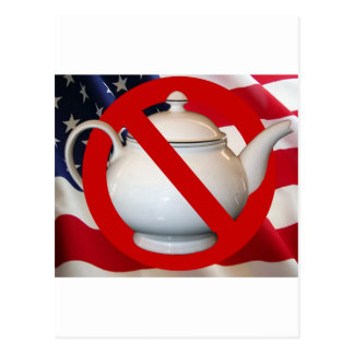 Anti Tea Party Flag Postcard
