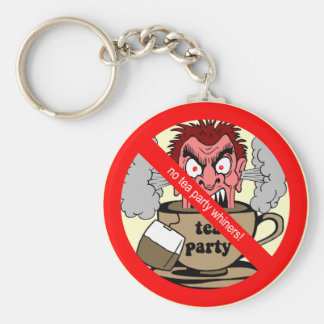 Anti tea party keychain