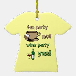 anti tea party ornament