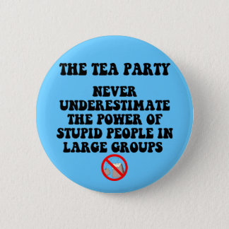 Anti tea party pinback button