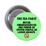 Anti tea party pinback button