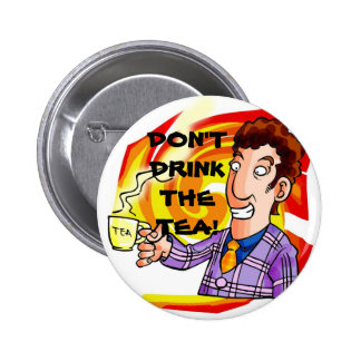 ANTI-TEA PARTY PINBACK BUTTON