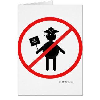 Anti teabagger card