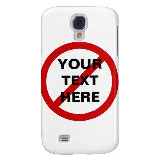 Anti- Template Circle with Slash Galaxy S4 Case