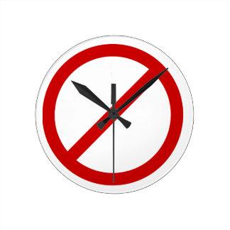 Anti- Template Circle with Slash Clock Template