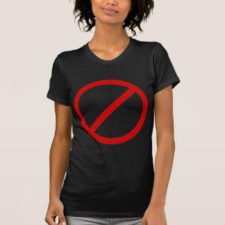Anti- Template Circle with Slash Template T-Shirt