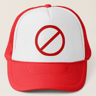 Anti- Template Circle with Slash Template Trucker Hat