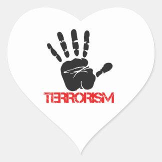 Anti Terrorism designs Heart Sticker